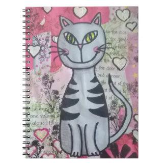 Caderno feliz do gatinho