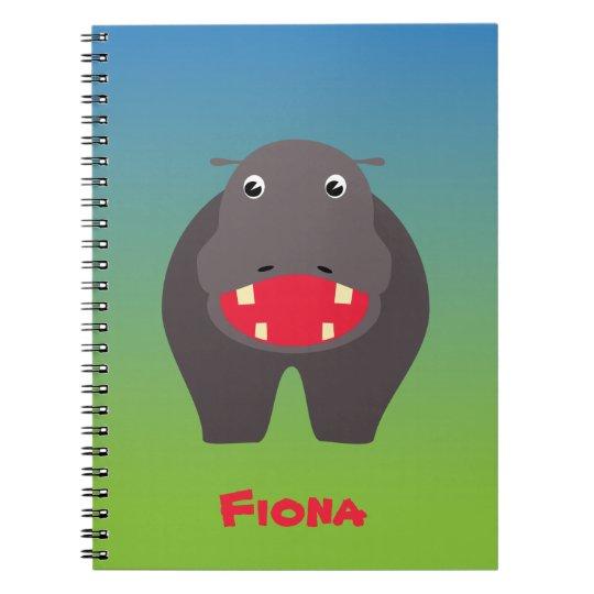 Caderno feliz do hipopótamo