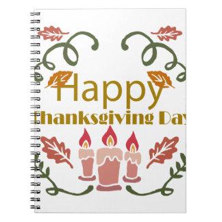 Caderno Festival feliz da queda da acção de graças