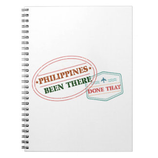 Caderno Filipinas feito lá isso