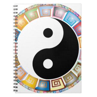 Caderno filosofia asiática oriental de yang do yin