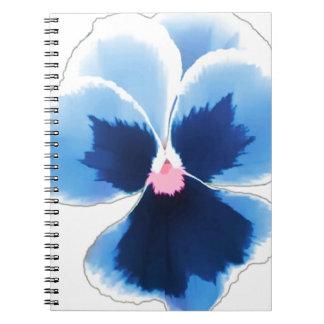 Caderno Flor azul 201711c do amor perfeito