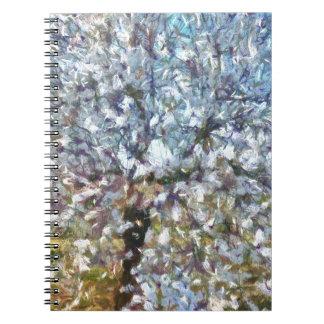 Caderno Flor da amêndoa do primavera