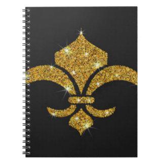 Caderno Flor de lis dos diamantes do ouro