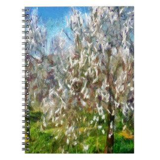 Caderno Flor do pomar da amêndoa