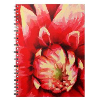 Caderno Flor vermelha grande