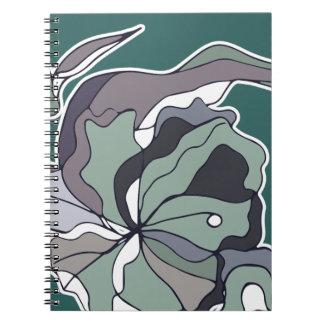 Caderno floral da floresta do Serendipity