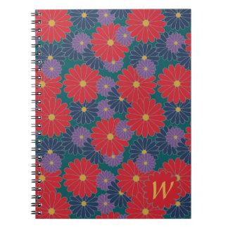 Caderno floral da queda Splashy
