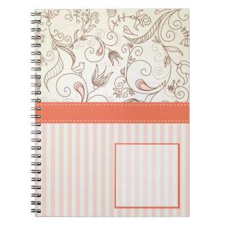 Caderno floral delicado