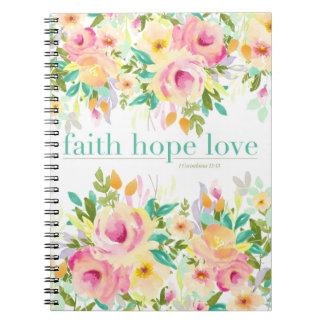 Caderno floral do amor | da esperança da fé (80