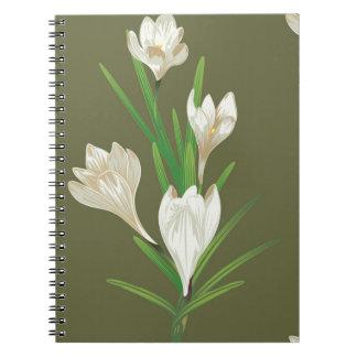 Caderno Flores brancas 2 do açafrão