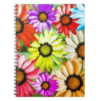 Caderno Flores coloridas do Gerbera
