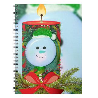 Caderno Folha de prova da vela do espírito do feriado do