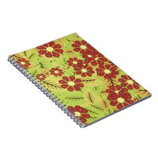 Caderno Folha e flores
