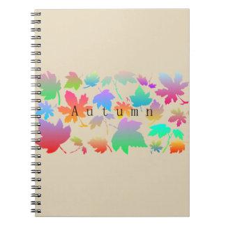 Caderno Folhas de outono coloridas