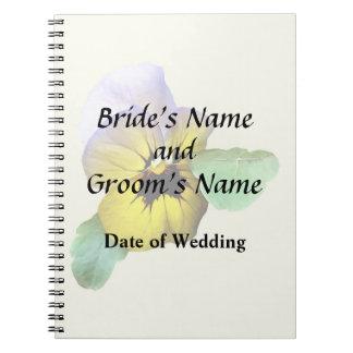 Caderno Fontes de saudação do casamento do amor perfeito