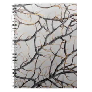 Caderno Foto macro de um coral gorgonian seco