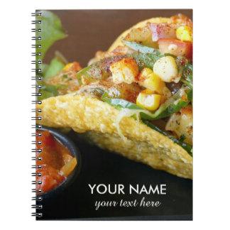 Caderno fotografia mexicana deliciosa do Tacos