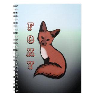Caderno Fox Foxy vermelho bonito
