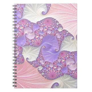 Caderno Fractal brilhante dos Pastels