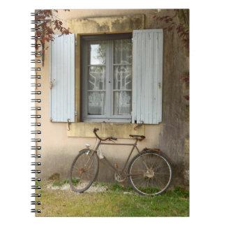 Caderno francês da foto da casa