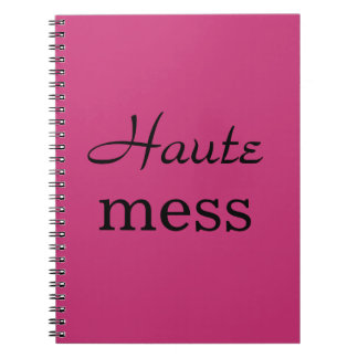 Caderno fúcsia & preto da confusão de Haute