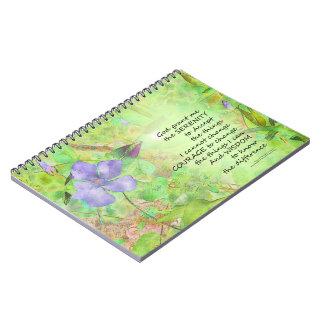 Caderno Fulgor do Vinca da oração da serenidade