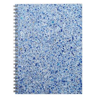 Caderno Fundo de pedra salpicado azul da textura do
