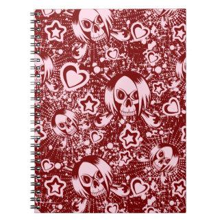 Caderno fundo do crânio do emo