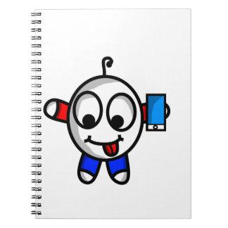 Caderno gajo engraçado do telefone