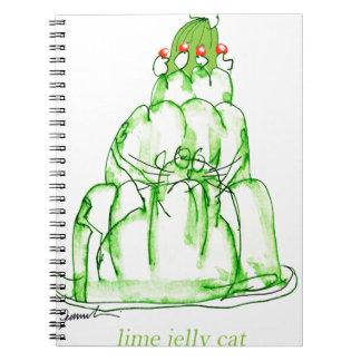 Caderno gato da geléia do limão dos fernandes tony