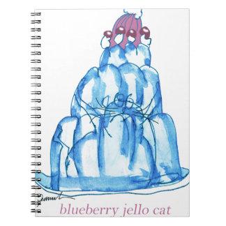 Caderno gato do jello do mirtilo dos fernandes tony