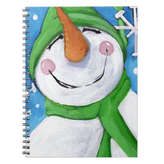 Caderno Gelado o boneco de neve feliz