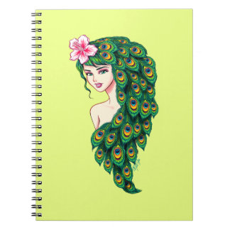 Caderno glamoroso do amarelo da arte da deusa do