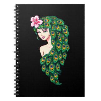 Caderno glamoroso do preto da arte da deusa do