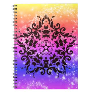 Caderno Glittery do céu & do arco-íris das