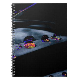 Caderno Gotas coloridas da água