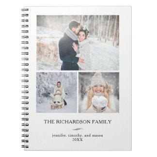 Caderno Grade moderna minimalista   três fotos