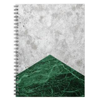 Caderno Granito concreto #412 do verde da seta