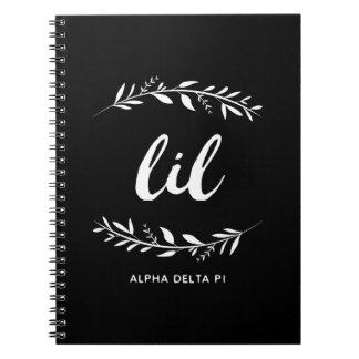 Caderno Grinalda alfa do Pi | Lil do delta
