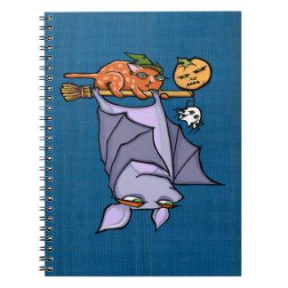Caderno Grouchy da foto do Dia das Bruxas do gato