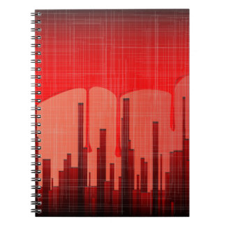 Caderno Grunge da cidade do sangue