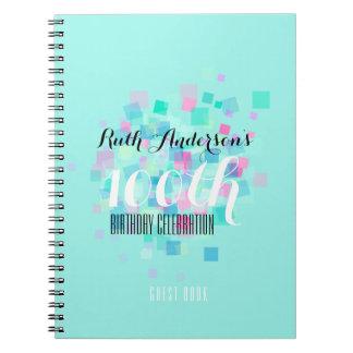 Caderno GuestBook da festa de aniversário das cores Pastel