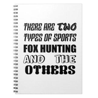 Caderno Há dois tipos de caça de Fox dos esportes e de