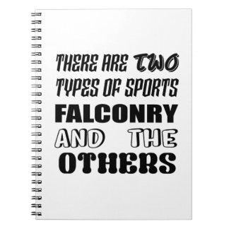 Caderno Há dois tipos de falcoaria e de outro dos esportes