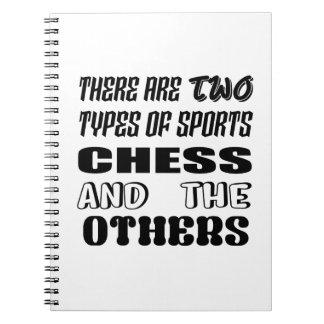 Caderno Há dois tipos de xadrez e de outro dos esportes