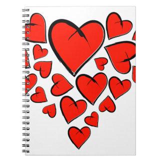 Caderno Heartinella - corações do vôo