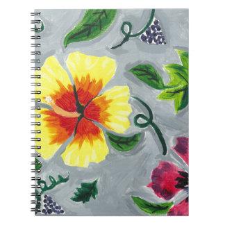 Caderno Hibiscus de flutuação
