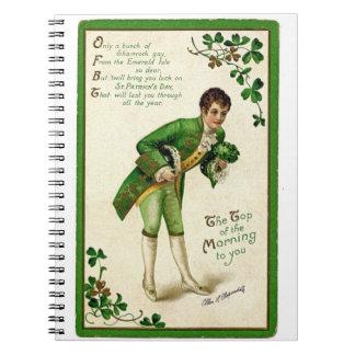 Caderno Homem tradicional dos cumprimentos do dia de St