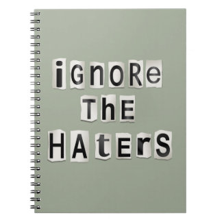Caderno Ignore os haters.